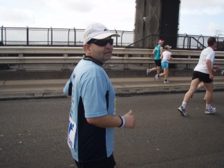 Anthony on the Harbour Bridge Run 2010