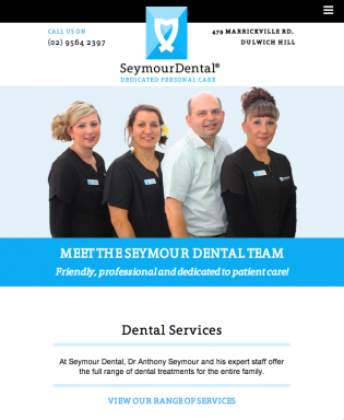 Seymour Dental Home page