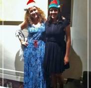 Dilara Santa and sister elf Nazli at the staff Christmas party