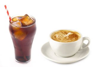 Coffee & Cola i.e. caffiene and carbonic acid and sugar