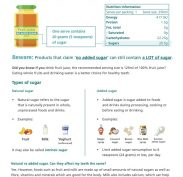 ADA OHP Factsheet sugar and read the label