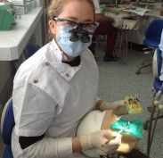 Dilara in the simulation clinic