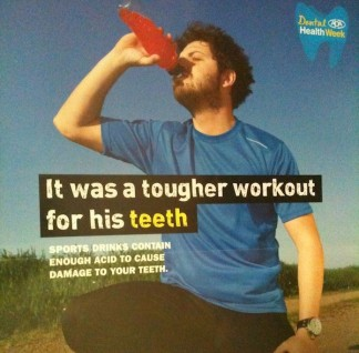 Dental Health Week 2013 - Sport drinks cause tooth erosion
