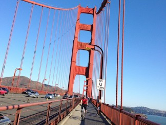 On the Golden Gate Bridge - No U-turn!