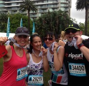 Team Wairoa savouring the finish and their medals