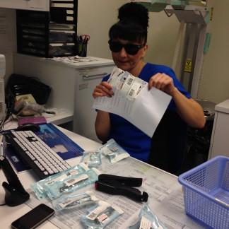 Roni making sterilising record keeping look cool