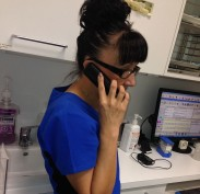 Roni taking your calls while on the run