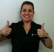 Sue is happy to be your dental nurse