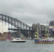 Celebrating Australia Day on Sydney Harbour