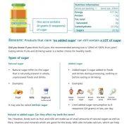 ADA OHP Factsheet sugar and read the label