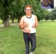 Team Miroma Harbour Bridge Virtual Run - Aisha in Melbourne; Robbie, Adam, Anthony in Sydney