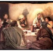 Jesus at the Passover meal